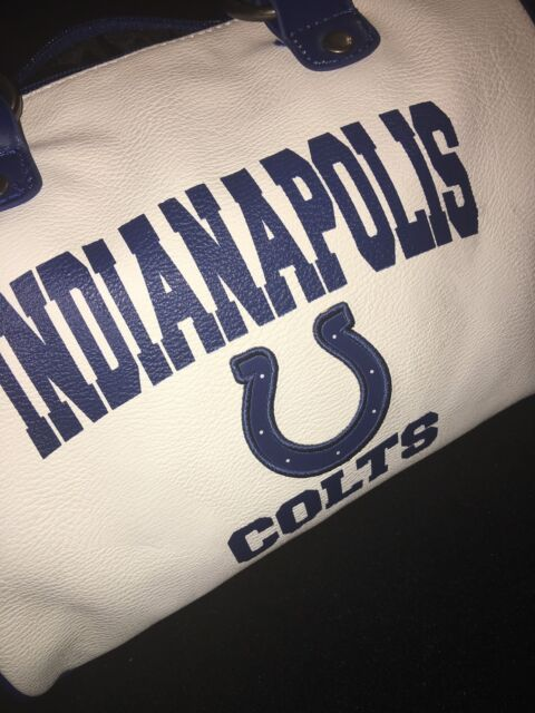 Indianapolis Colts Women's White Cheer Bowler Purse