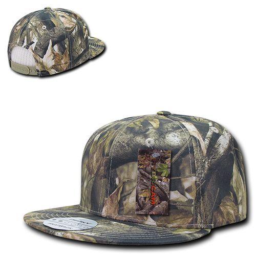 Camouflage Flat Bill coton camo hybricam Mossy Snapback Baseball Chêne Chapeau