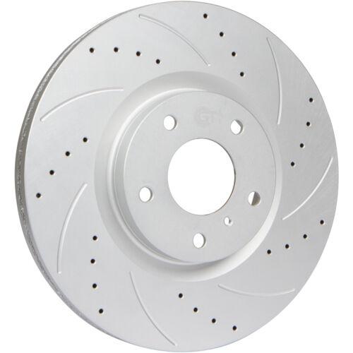 Front Kit Disc Brake Rotors /& Ceramic Pads for Hyundai Sonata Kia Optima
