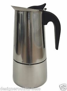 Coffee Maker On Gas Stove : 9 Cup Stainless Steel Espresso Mocha Coffee Maker Pot Percolator Gas Glass Stove eBay