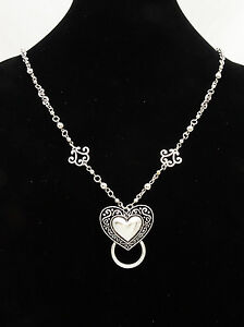 95702f17023 New Eyeglass   ID Badge Holder Necklace Lanyard with Ornate Heart ...