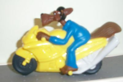 HOODWINKED TOO RIDIN WOLF PULL BACK TOY MOTORCYCLE BK