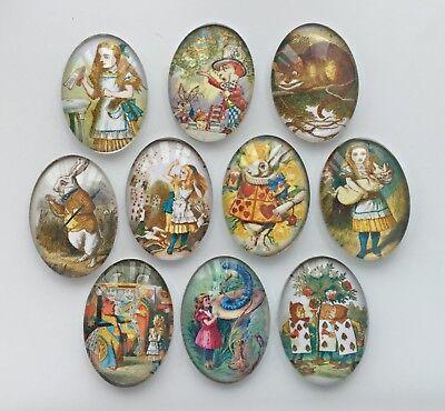 10 Sherlock Holmes Glass Cabochons Oval 25mm x 18mm Crafts Jewellery Making