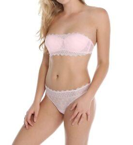 e72ca848116a9 Cosabella PAPYRUS Pink Lilly Lace Bandeau Bra w  Straps 32B Low ...