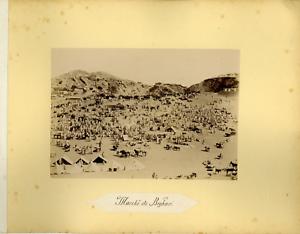 Algerie-Marche-de-Boghari-Vintage-albumen-print-Tirage-albumine-11x16