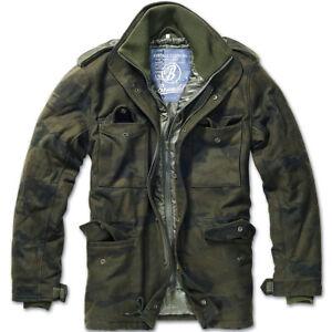 bc5021c99c1 Details about Brandit Classic M65 Mens Field Jacket Warm Hunting Parka Wool  Coat Woodland Camo