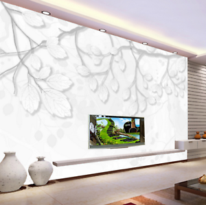 3D whiteer Laub Bäume 455 Tapete Tapeten Mauer Foto Familie Tapete Wandgemälde