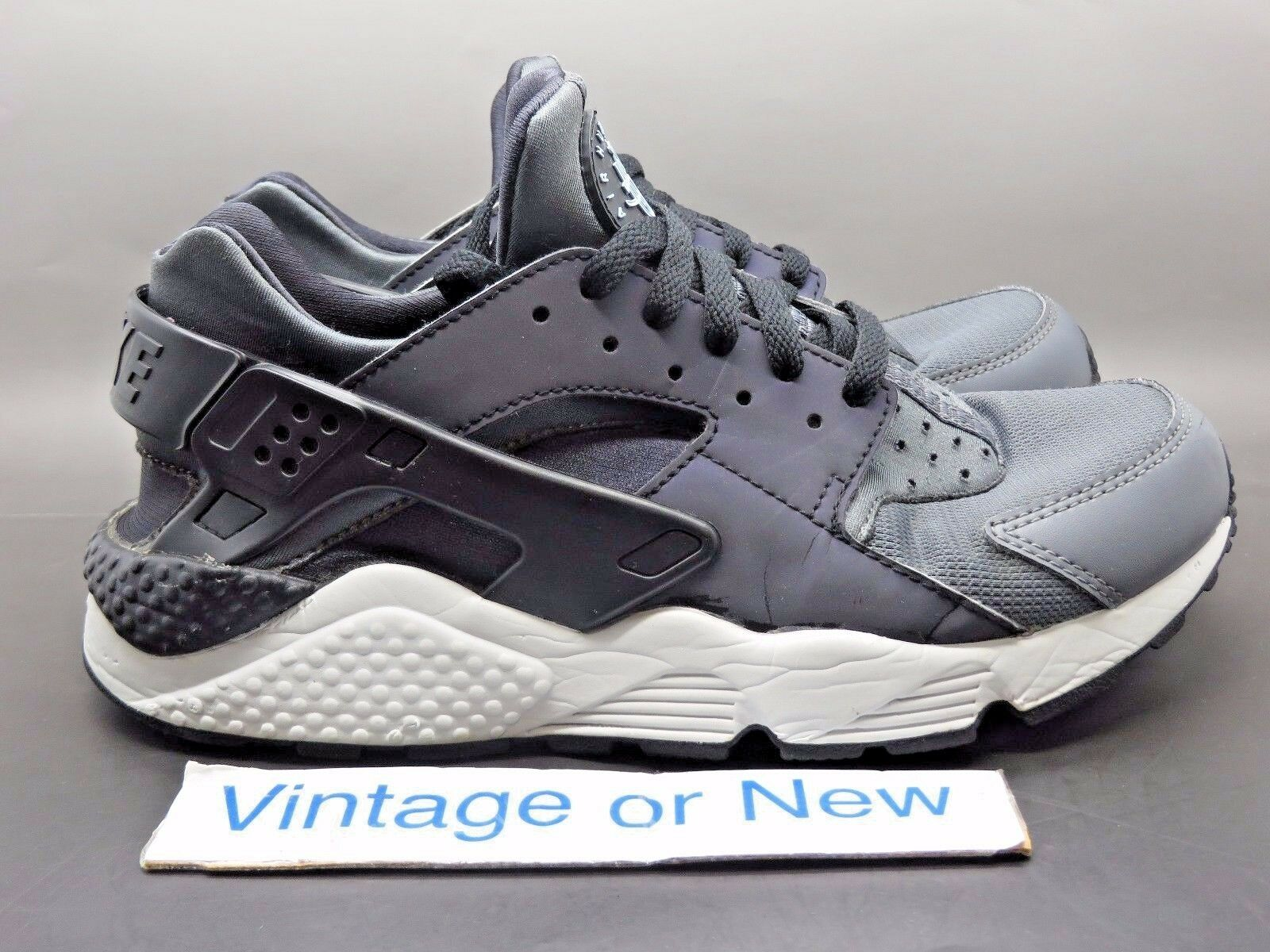 Men's Nike Air Huarache PRM Dark Grey Black Running shoes sz 8.5