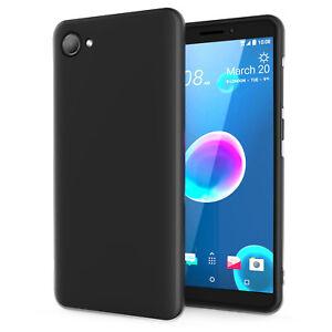HTC-Desire-12-Desire-12-Plus-Case-Silicone-Soft-Gel-Phone-Cover-Matte-Black
