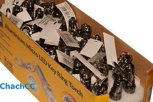 60 x Rolson 1 LED Aluminium Key Ring Torch Ultra Bright Single LED  Job Lot - <span itemprop=availableAtOrFrom>Yorkshire, United Kingdom</span> - 60 x Rolson 1 LED Aluminium Key Ring Torch Ultra Bright Single LED  Job Lot - Yorkshire, United Kingdom