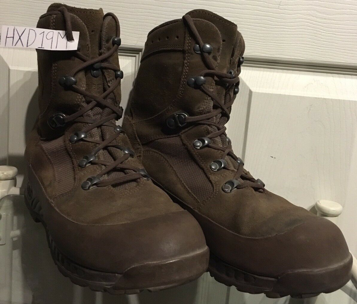Haix Deserto Marrone in Pelle Scamosciata MTP British HXD19M Army Issue ANFIBI 9M HXD19M British 01f9c9