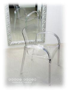 Acrylique Fantome Verre Plexi BRAS Lehn Chaise TRANSPARENT