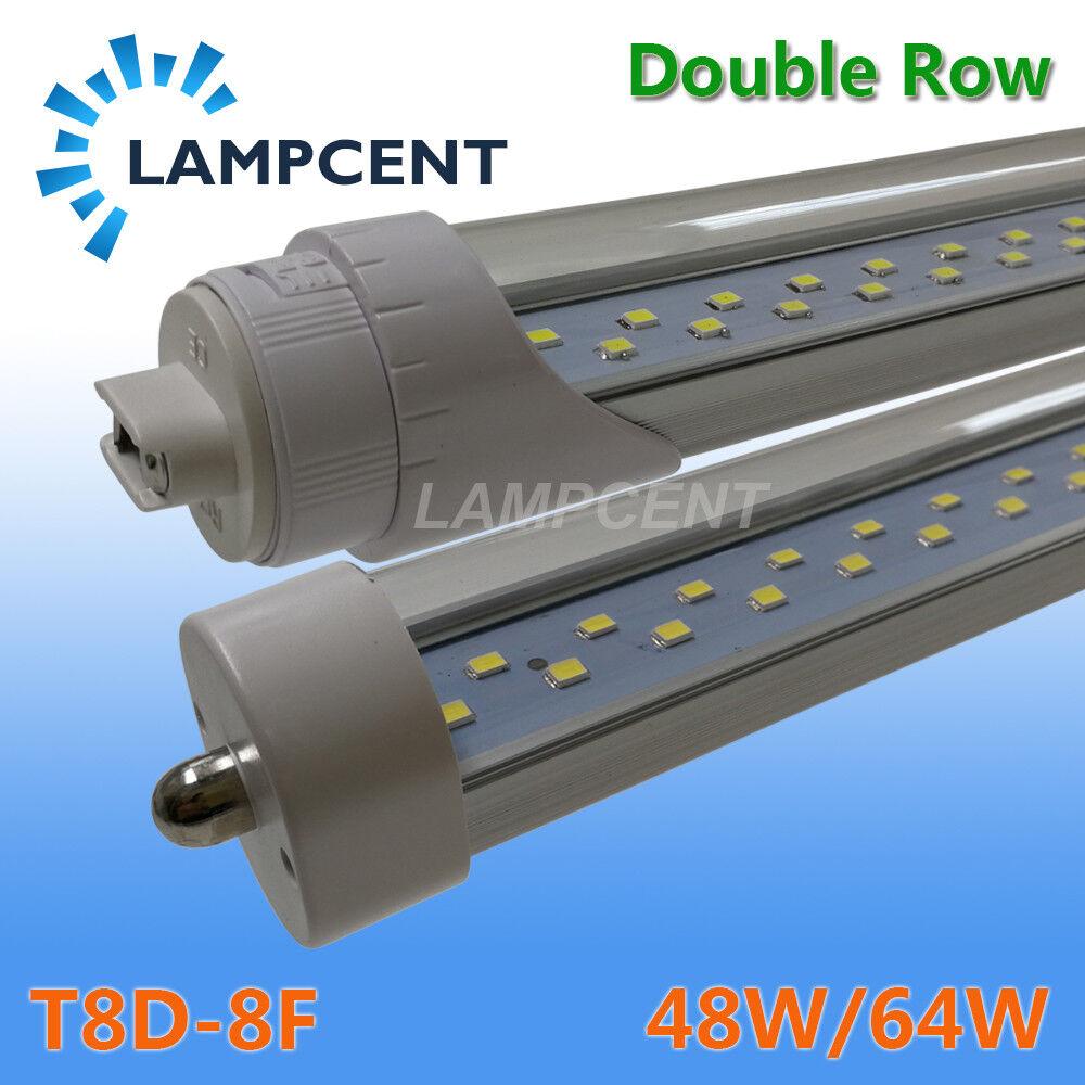 8FT 48W 64W FA8 Single Pin R17D(HO) T8 Double Row LED Tube Light Bulbs 2-25PCS