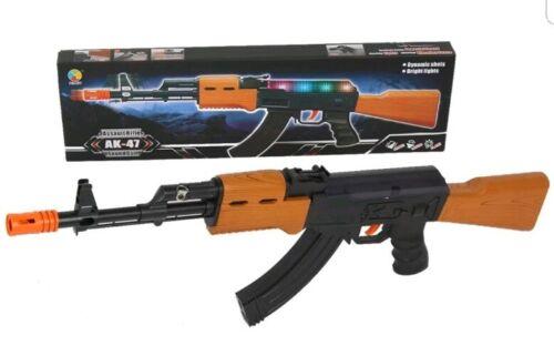 Fusil d/'assaut AK47 Lumières DEL Shake /& son arme-jouet enfants Filles Garçons Jouets 69 cm