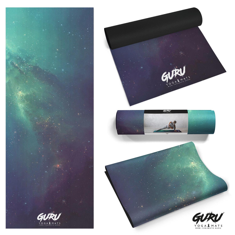 PRINTED SPACE GALAXY NEBULA YOGA MAT ' ECHO' YOGA MAT BY GURU YOGA BRAND NEW