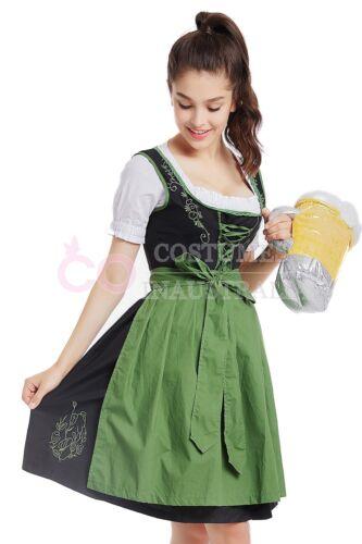 Ladies Beer Maid Costume Wench German Heidi Oktoberfest Girl Womens Fancy Dress