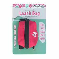 ZippyPaws Dog Poop Bag Holder Leash Attachment (Hibiscus Pink)
