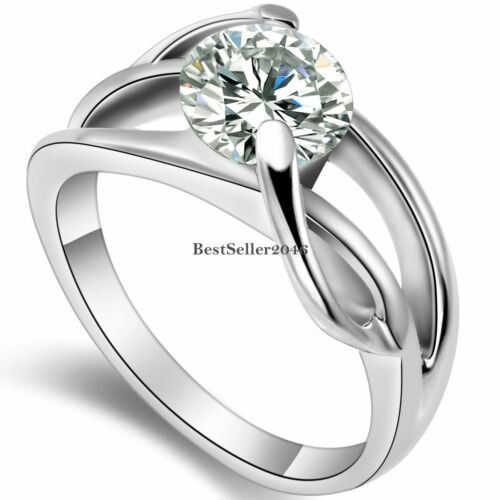 2.0 Ct Round CZ Infinity Love Knot Womens Stainless Steel Promise Ring Size 5-9
