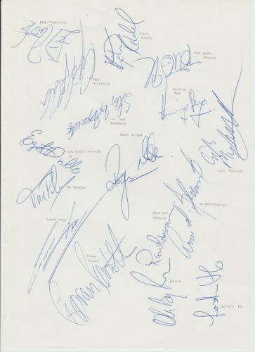 NORWAY FIFA WORLD CUP FINALS 1994 ORIGINAL HAND SIGNED A4 SHEET X 16 SIGNATURES