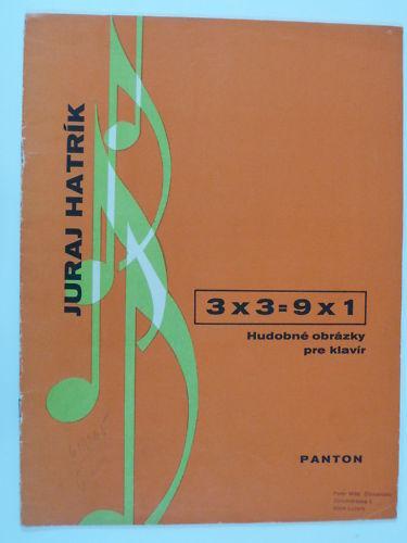 Piano Solo Juraj hatrik 3 X X X 3 = 9 X 1, 1969  Venta al por mayor barato y de alta calidad.