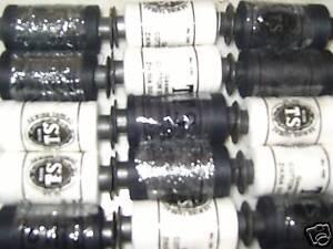 100% Puro Algodón 20 carretes de Blanco + Negro Costura-Gran Calidad Y Precio  </span>