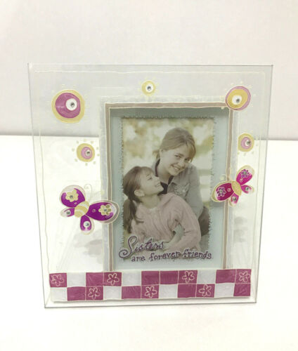 /'Sister/' Painted Glass Frame