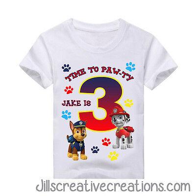 Paw Patrol T Shirt Paw Patrol Birthday Personalized Shirts Shirts Ebay