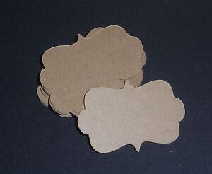 50-Blank-Kraft-Vintage-Tags-Handmade-Journal-Labels-Cardstock-Frames-Wedding