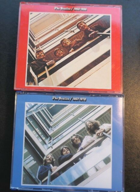 1962-1966+1967-1970 by The Beatles Blue Album (CD, 4 Discs) w. Blue & Red Cases