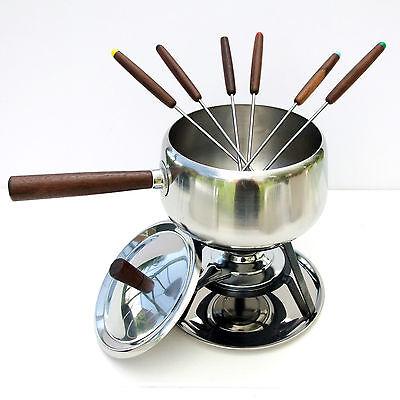 Vintage Retro 1970s Japanese Radmore Fondue Pot Pan Party Set