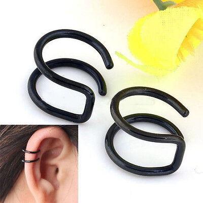 Clip-on Earrings Punk Style Non-piercing Cartilage Cuff Eardrop Ear Clip Jewelry