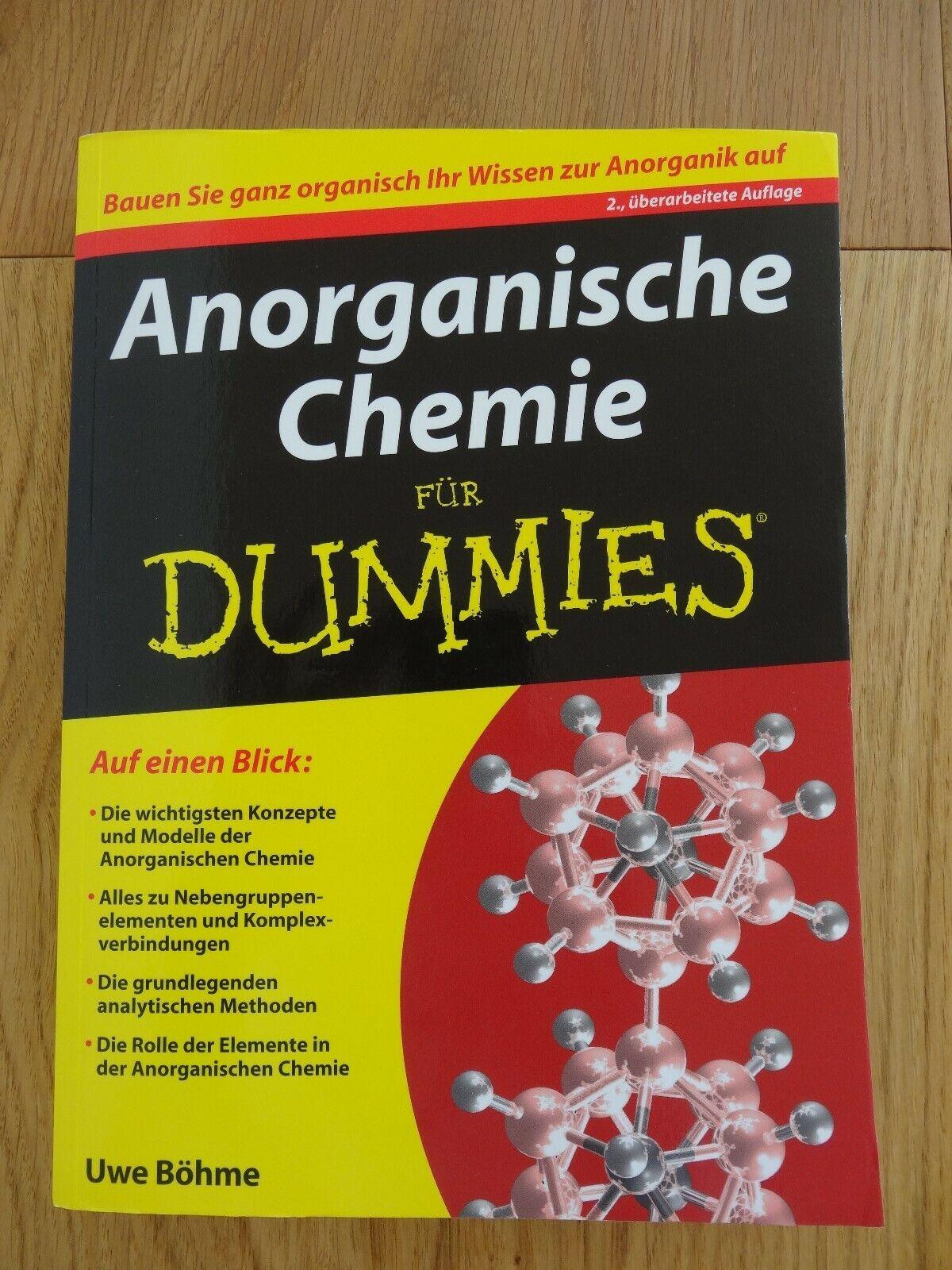 Anorganische Chemie Für Dummies Von Uwe Böhme 2013 Taschenbuch