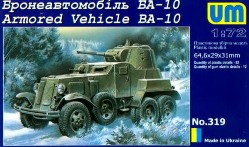 UM 1/72 319 WWII Soviet Red Army BA-10 Armored Vehicle