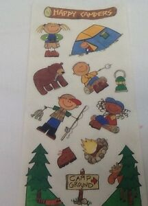 Camping Kids Campground Boy Girl Scout Stickers Scrapbooking Me My