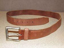 Vintage Brown Leather Jeans Cowboy Ranch Belt Size 36