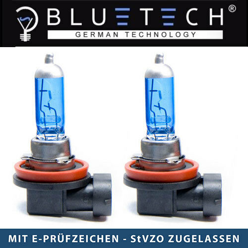 2x H16 SUPER WHITE BLUETECH® GLÜHLAMPEN 19W  7500K Xenon Optik PGK19-3