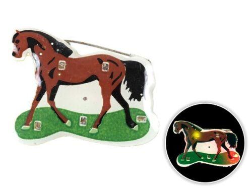 Blinki Anstecker Blinky Brosche Pin Button Pferd 11 blinkender Party Anstecker