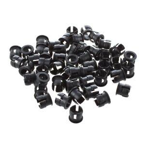 50-5mm-negro-plastico-LED-sostenedor-base-c-pantalla-del-panel-X2T8