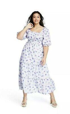 Loveshackfancy X Target Gemma Puff Sleeve Floral Dress Plus Size 1x New Ebay