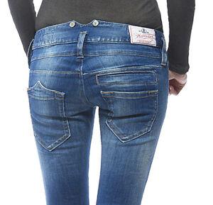 Elasticizzato Herrlicher Power Pitch Denim Pantaloni Slim Donna Jeans Bliss qIO4qpr