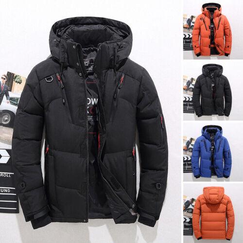 Men Winter Warm Duck Down Jacket Snow Hooded Coat Climbing Ski Outwear Parka