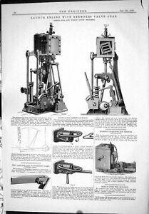 Old-1885-Launch-Engine-Bremner-Valve-Gear-Ross-Duncan-Nicholson-Sieme-Victorian