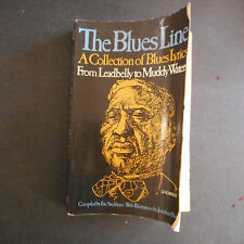 Blues Line A Collection of Blues Lyrics Eric Sackheim Leadbelly to Muddy Waters