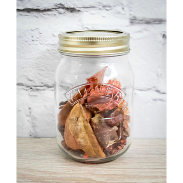 Set Of Kilner Screw Top Preserving Storage Pots Glass Chutney Jam Jars 500ml Jar