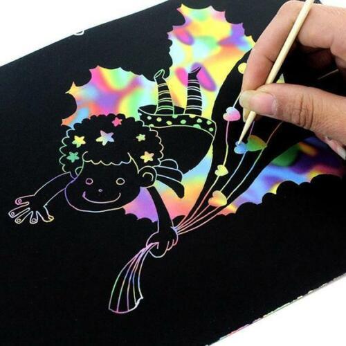 10pcs Magic Drawing Paper Environmental 16K A4 Drawing Paper with Bamboo Pen