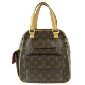 LOUIS-VUITTON-Excentri-Cite-Hand-Bag-M51161-Monogram-Canvas-Used-LV