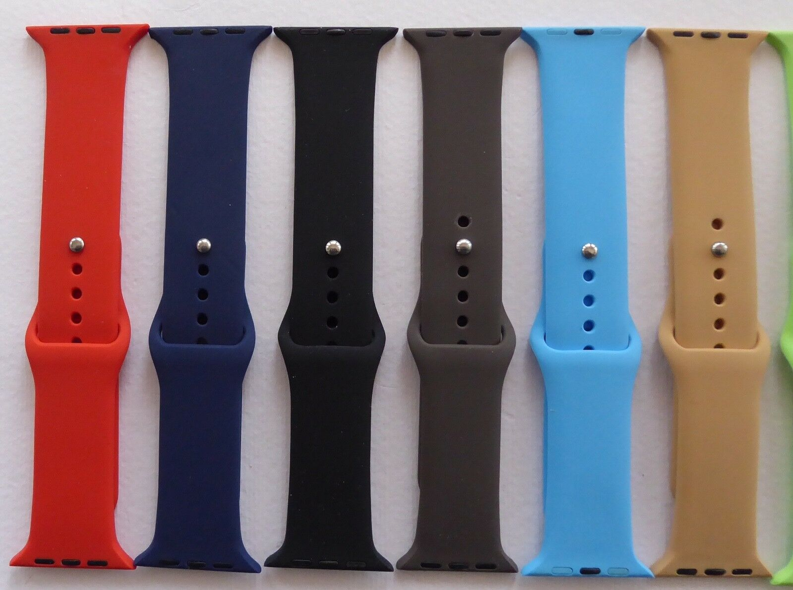 iwatch: IWATCH STRAP – RUBBER / SILICON VARIOUS COLOURS – 38MM AND 42MM – UK SELLER