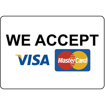 We Accept Visa Mastercard Aluminum Metal Sign  eBay