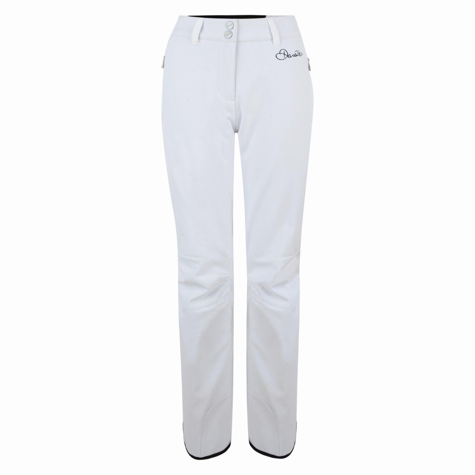 Dare 2b Ladies Remark Ski Pants Salopettes 10,000mm Waterproof White Size 14