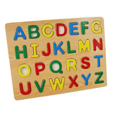 Classico Ragazzi Bambino Apprendimento Lettere A - Z Legno Dipinto Multicolore Materiale Selezionato